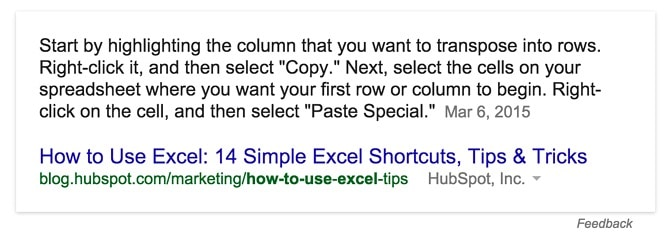 Featured Snippet Answer How to Use Excel- 14 Simple Excel Shortcuts, Tips & Tricks