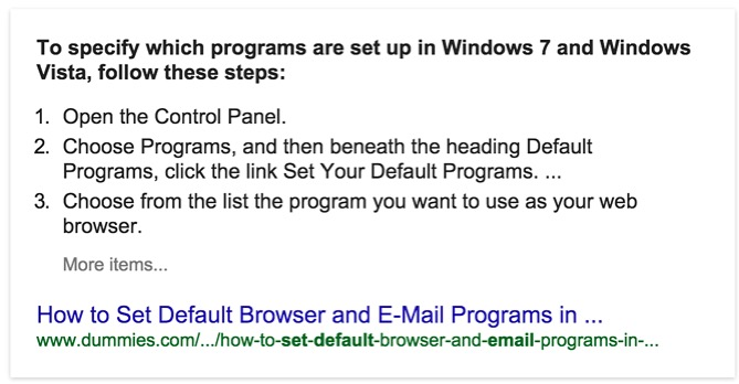 Featured Snippet Answers How to Set Default Browser and E-Mail Programs in...