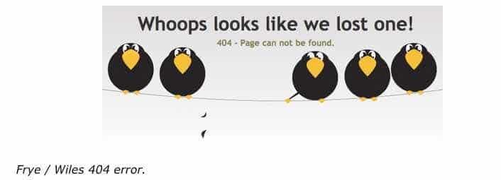 Whoops looks like we lost something 404 error