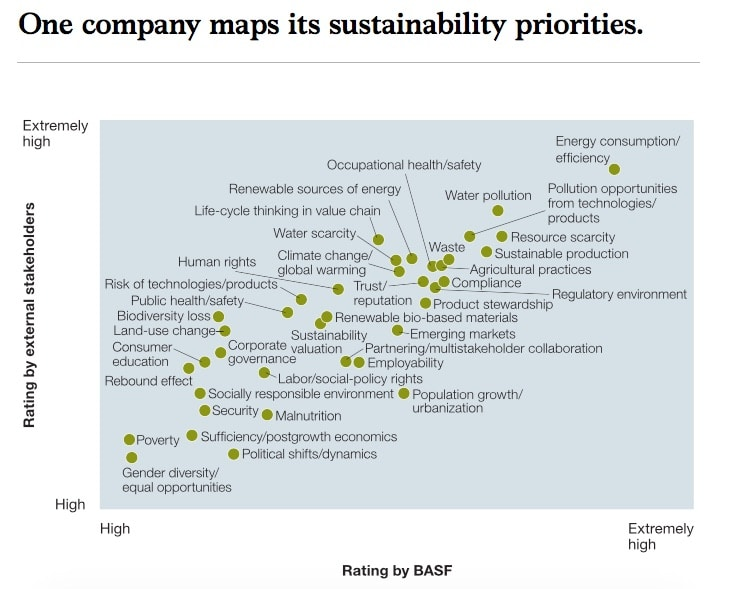 One Company, BASF Maps it's Sustainability Priorities