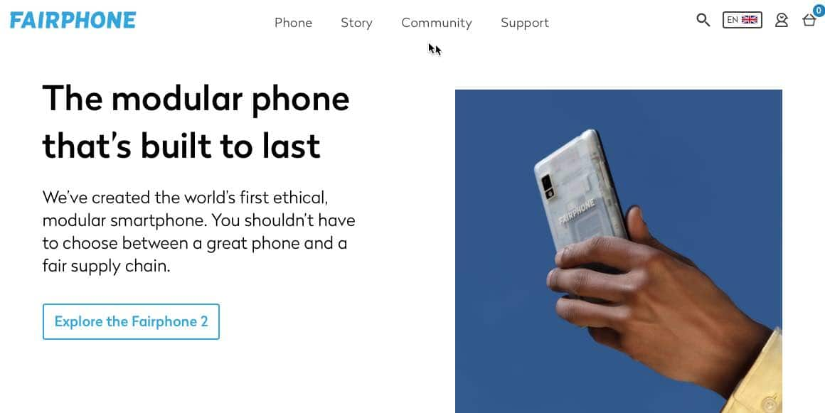 Fairphone created the world's first ethical, modular smartphone becoming part of the circular economy a fair supply chain.