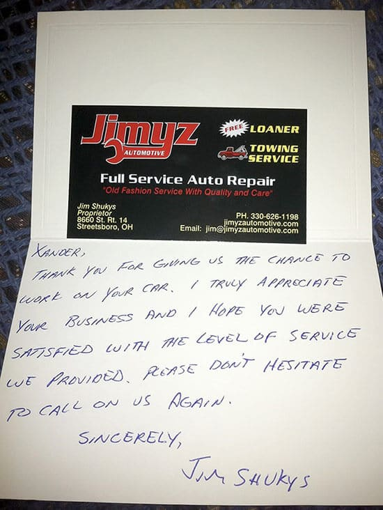 """Jimyz Automotive story was posted on Reddit with the appropriately titled topic of """"I have never in my life seen this level of customer service"""""""