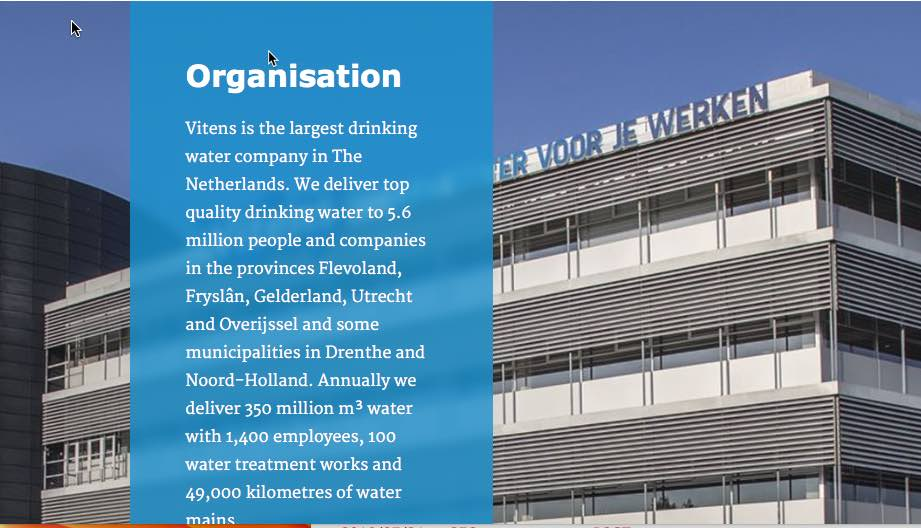 Vitens embraces the circular economy through it's sustainable water supply program