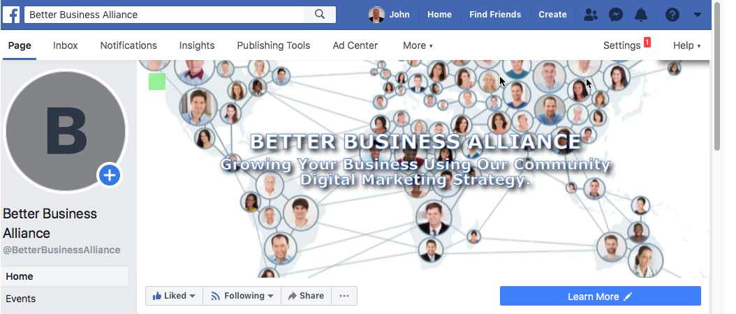 "alt=""Better Business Alliance Facebook home page screenshot"""