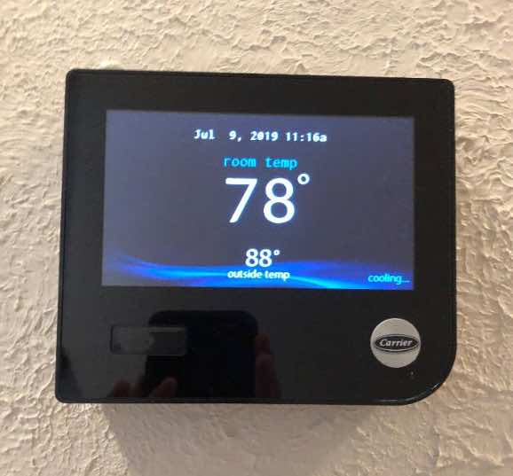 My new programmable thermostat to accompany my new high efficiency heating and cooling system