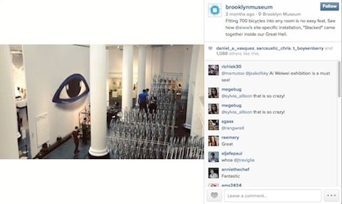 Brooklyn Museum paired photos and videos with text to get people excited