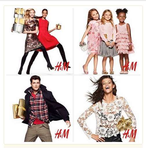 Logo placed consistently on H&M Facebook catalog.