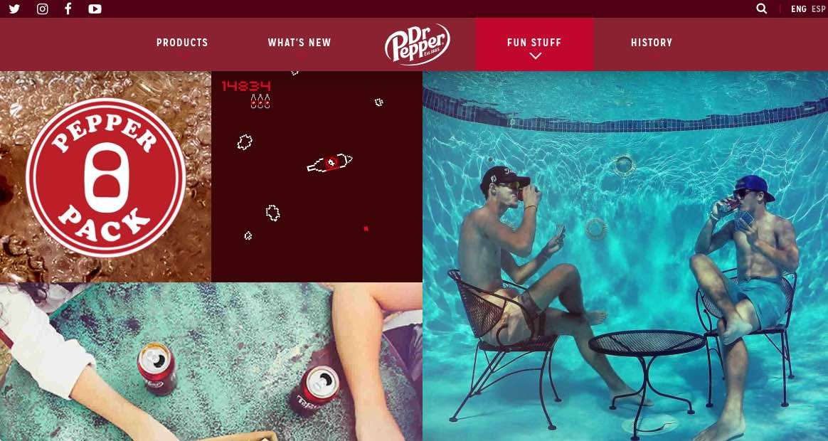 Dr. Pepper engages with consumers both online and offline